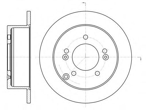 Тормозной диск  арт. 676600