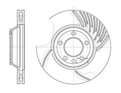 Тормозной диск ROADHOUSE 676910