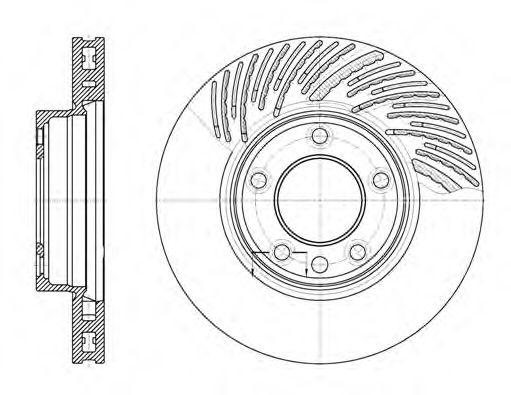 Тормозной диск (правый) ROADHOUSE 677311