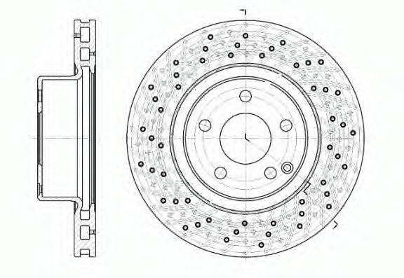 Тормозной диск ROADHOUSE 681710