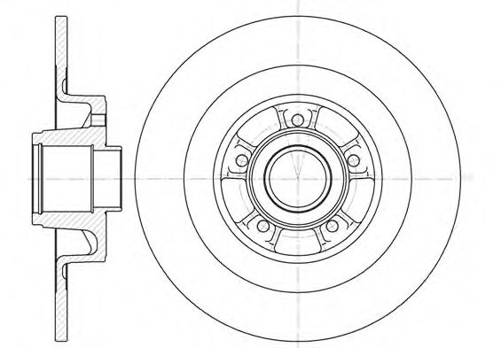 Тормозной диск ROADHOUSE 684800