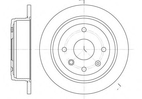 Тормозной диск  арт. 687600