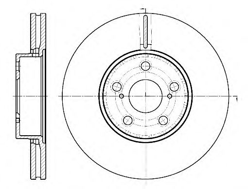 Тормозной диск ROADHOUSE 688710