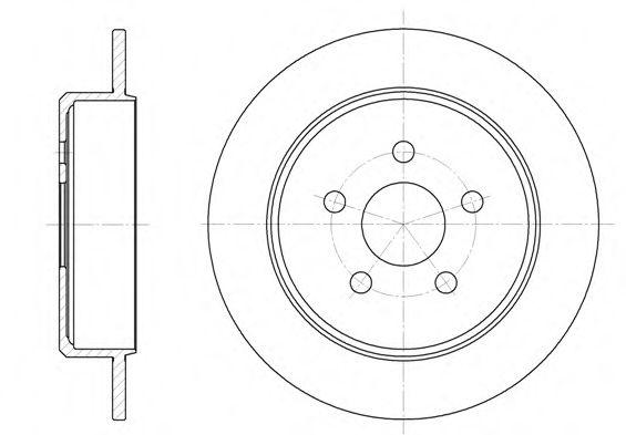 Тормозной диск  арт. 690100