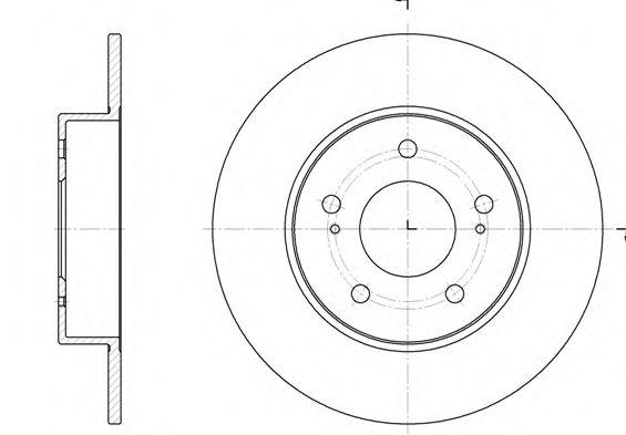 Тормозной диск ROADHOUSE 690900