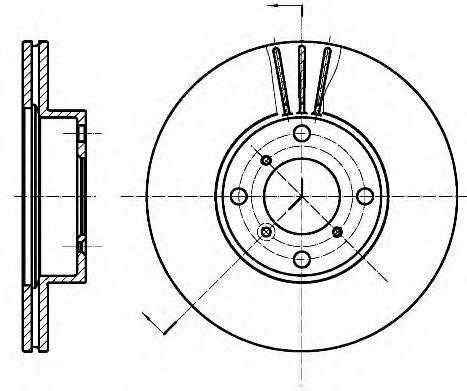 Тормозной диск ROADHOUSE 695010