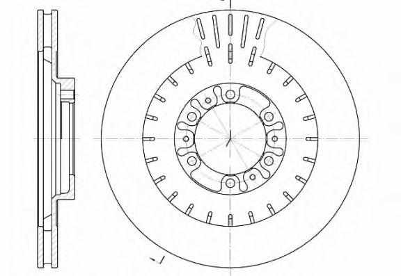 Тормозной диск ROADHOUSE 695310
