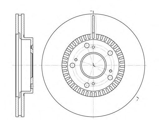 Тормозной диск ROADHOUSE 696210