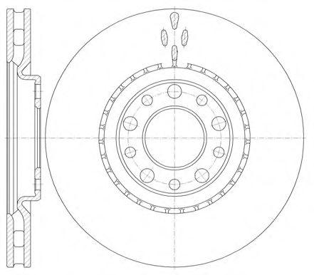 Тормозной диск  арт. 696410