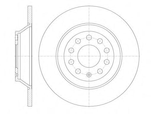Тормозной диск ROADHOUSE 696900
