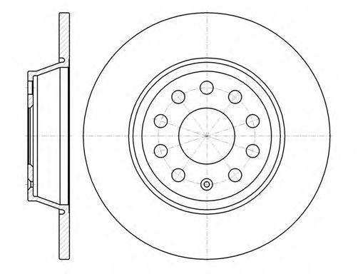 Тормозной диск ROADHOUSE 697300