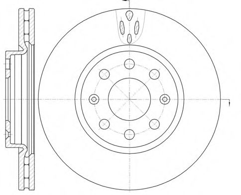 Тормозной диск FERODO арт. 698110