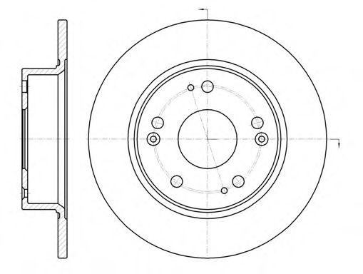 Тормозной диск ROADHOUSE 698400