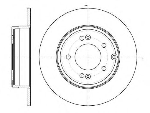 Тормозной диск  арт. 698900