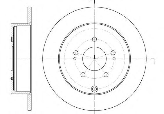 Тормозной диск ROADHOUSE 699700