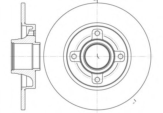Тормозной диск (только для подшипника диаметром 60мм) ROADHOUSE 6101400