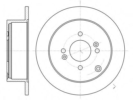Тормозной диск  арт. 6102400