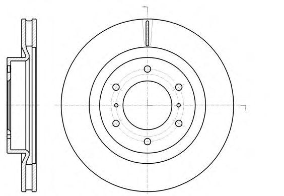 Фото - Тормозной диск (передний мост) ROADHOUSE - 6110010