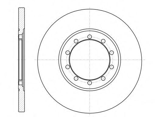 Тормозной диск  арт. 6120100