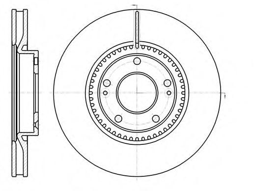Тормозной диск  арт. 6121710