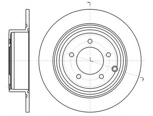 Тормозной диск  арт. 6129000
