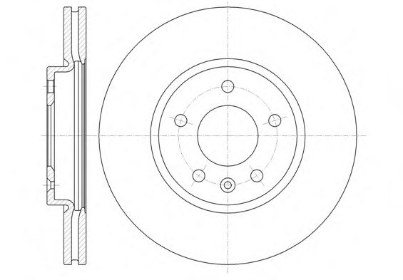 Тормозной диск  арт. 6131410