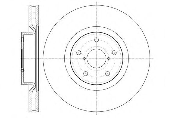 Фото - Тормозной диск (передний мост) ROADHOUSE - 6134210
