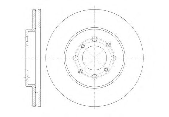 Тормозной диск  арт. 6135710