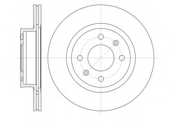 Фото - Тормозной диск (передний мост) ROADHOUSE - 6136510