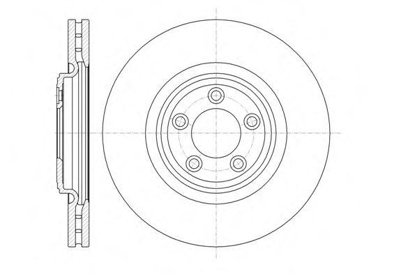 Тормозной диск  арт. 6137410