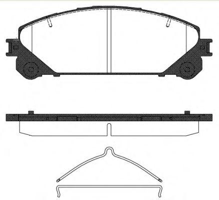 Тормозные колодки передние Lexus RX 08-, NX, Toyota Rav-4 IV ROADHOUSE 2131200