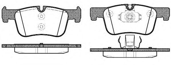 Колодки тормозные дисковые, к-кт.  арт. 2147800