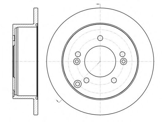 Тормозной диск  арт. 6139900