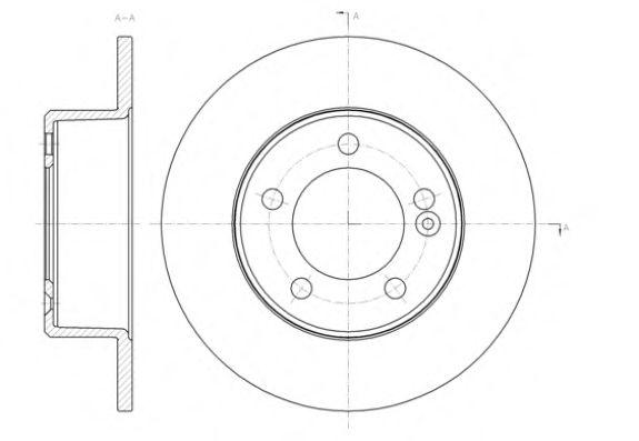 Тормозной диск ROADHOUSE 6143300