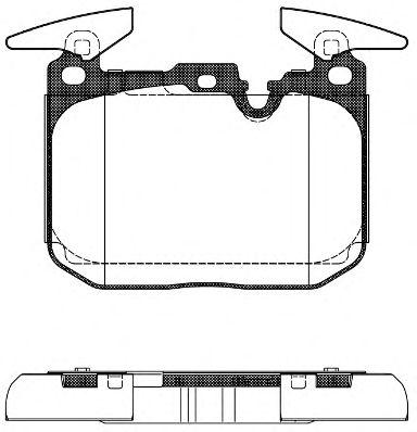 Колодки тормозные дисковые, к-кт.  арт. 2149100