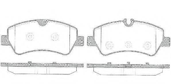 Колодки тормозные дисковые, к-кт.  арт. 2152100
