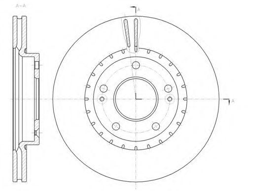 Тормозной диск  арт. 6143410