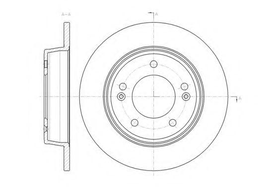 Тормозной диск  арт. 6143500