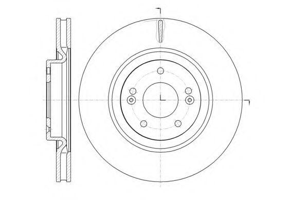 Тормозной диск  арт. 6143610