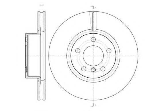 Тормозной диск  арт. 6145410