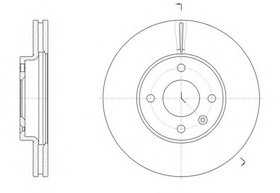 Тормозной диск  арт. 6145610