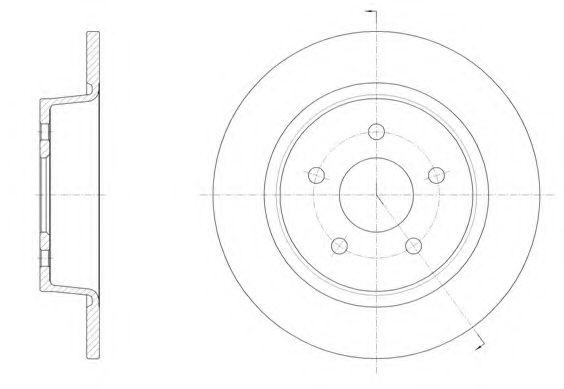 Тормозной диск  арт. 6145900