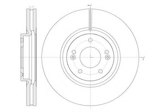 Тормозной диск  арт. 6146210