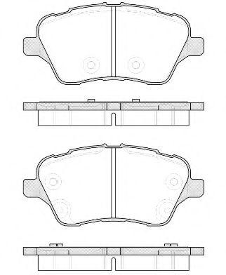 Колодки тормозные дисковые, к-кт.  арт. 2151400
