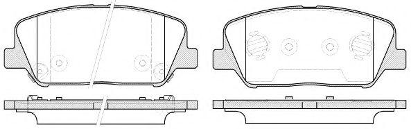 Колодки тормозные дисковые, к-кт.  арт. 2139812