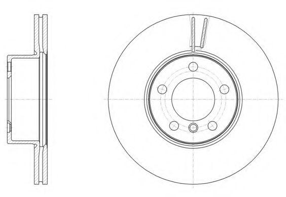 Тормозной диск  арт. 6149610