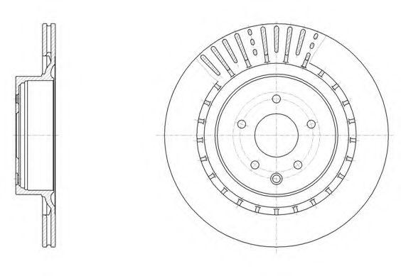Тормозной диск  арт. 6150910