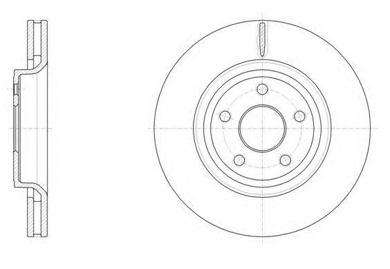 Тормозной диск  арт. 6151210
