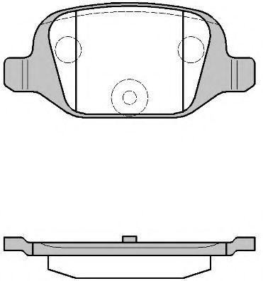 Колодки тормозные дисковые, к-кт.  арт. 272700
