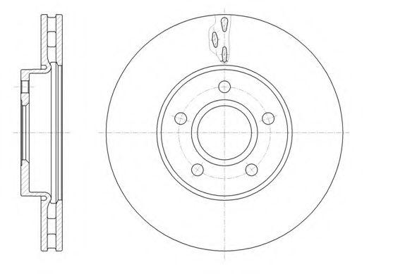 Тормозной диск  арт. 6156010